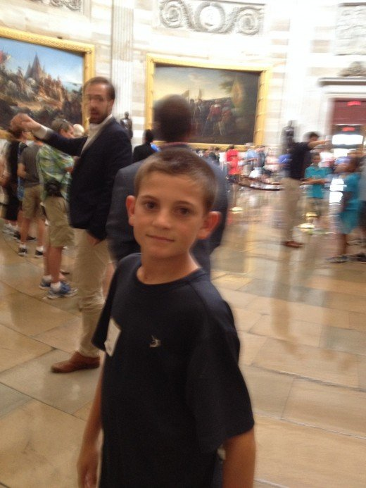 MY GRANDSON IN THE ROTUNDA