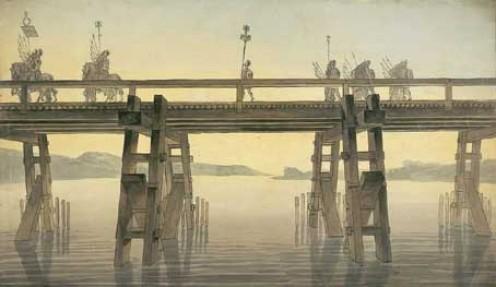 Caesar's bridge over the Rhine