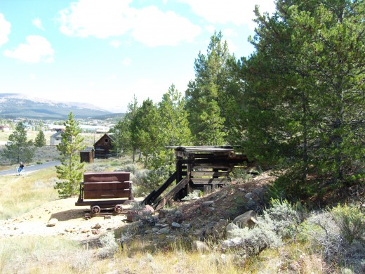 The old mining camp is preserved for tourists like us.