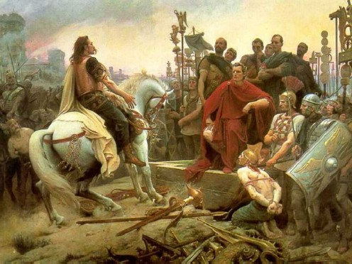 Vercingetorix's surrender to Caesar