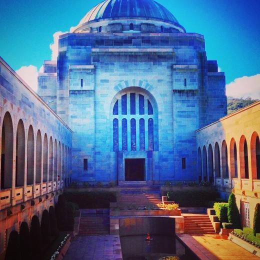 Looking towards the main cenotaph at the Australian War Memorial