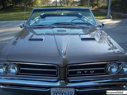 The 1964 Pontiac GTO sported two air intake castings on the hood as part of it's special styling package.