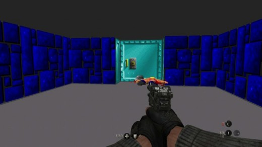 The throwback to Wolfenstein 3D is not only a nice little nod, it's also pretty challenging. Ration that armour and stockpile that dog food - you'll need it.
