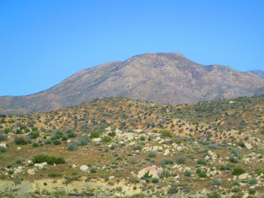 Closeup photograph of Mount Luna.