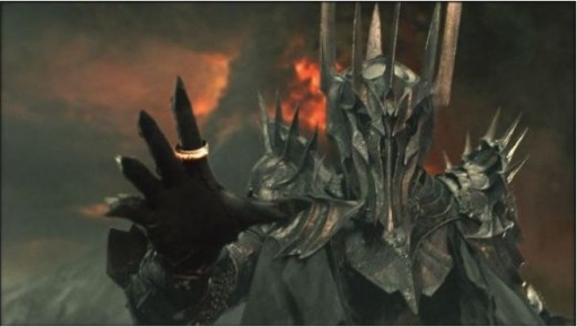 "Reaching Sauron Pictured above, here making amends with his enemy… ""Here, I'm sorry about all this, let me help you up. If you have time we could go and- Yeeeeeow! That was my writing ring finger you b!t@h!"