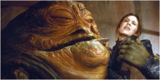 "So realistic, so beyond CGI, so unnecessary to draw because you still have the puppet somewhere! No need to RECAST! No! Jabba looks ""real"", and Carrie Fisher's reaction is way more realistic than a green-screen shot."