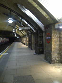 Baker Street - one of the older stations on the London Underground - the Bakerloo Line (originally called the Baker Street & Waterloo Railway) opened in 1906