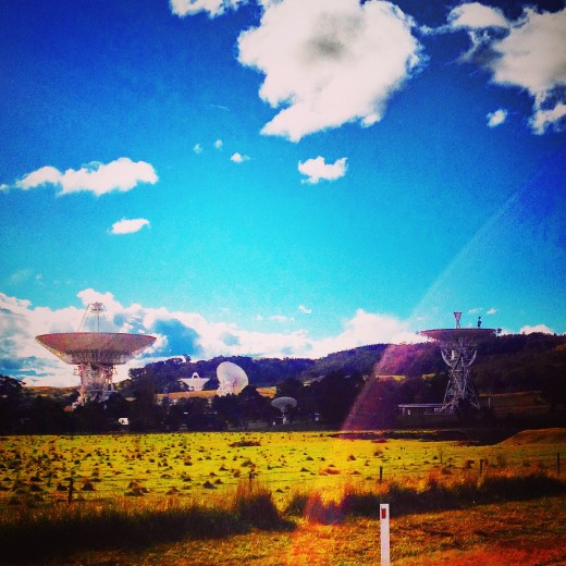 Approaching the Canberra Deep Space Communication Complex on Discovery Drive, Tidbinbilla ACT.