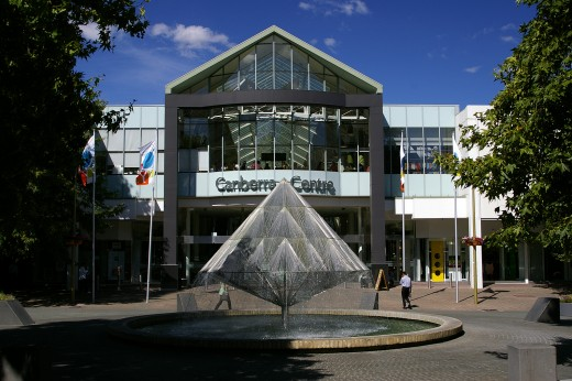 Front entrance of Canberra Centre - the only shopping mall in the Australian Capital