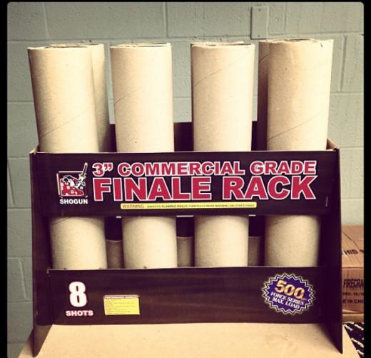 4 Single Shot Finale Rack Maximum load of 500 grams