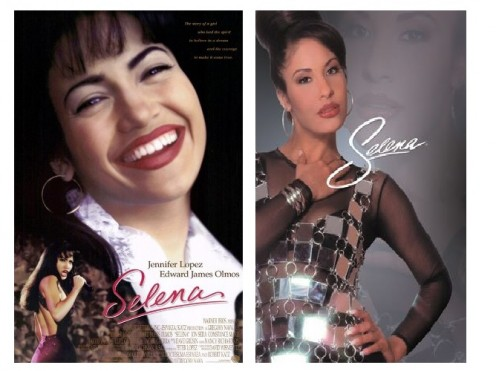 (Left) Jennifer Lopes (1997) Selena Poster( Right)