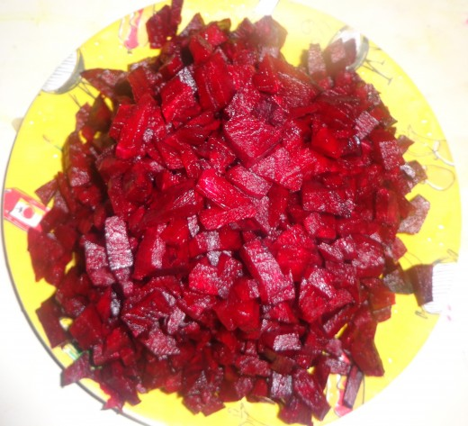 Chopped Beetroot npieces