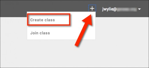 Click the plus sign to create your first class