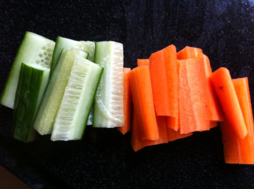 Crudités make a great lunch with pates or dips