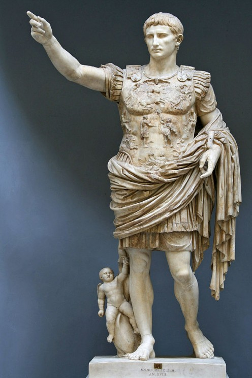 Octavian as Caesar Augustus