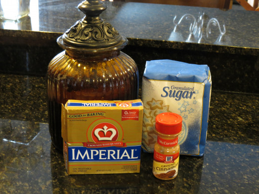 Ingredients for crumb topping.
