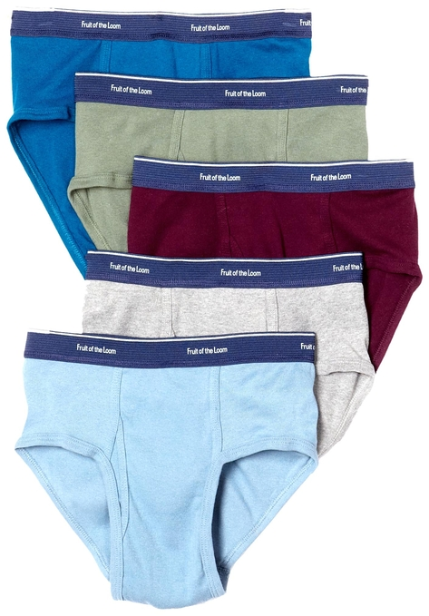 Fruit of the Loom Men's 5 pack low rise collection fashion brief