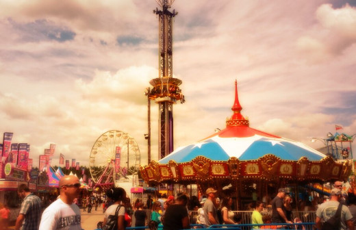 I took this photo at the county fair and used Twitter to edit it.  It was taken by my cell phone camera.