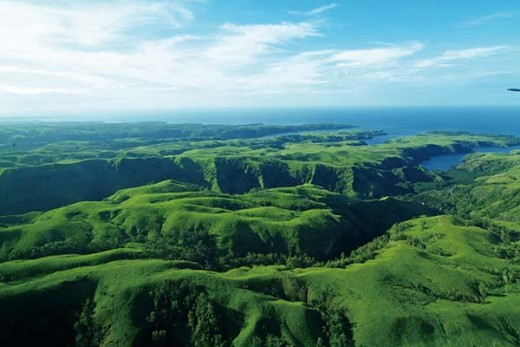 View over Papua New Guinea