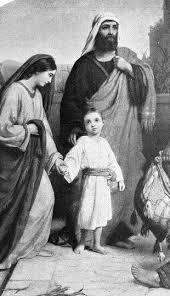 Jesus with his parents