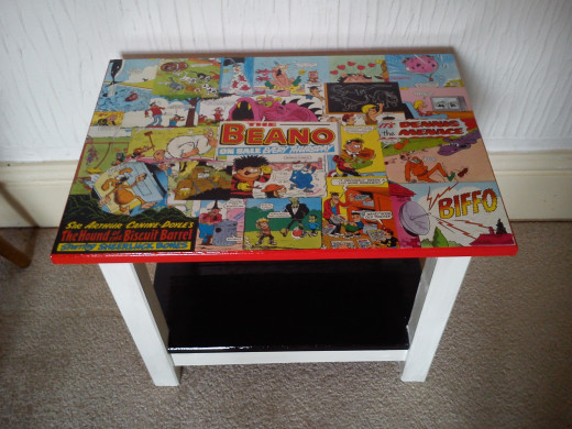 Another decoupage project based on 'The Beano' comics I used to read as a child.