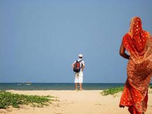 The Clean Beach In Pondicherry