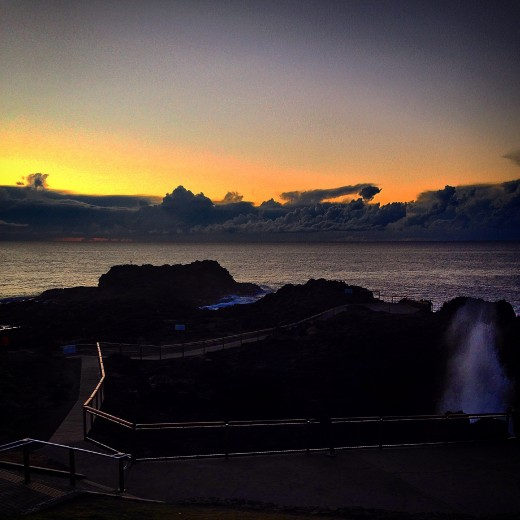 Kiama Blowhole roughly 20 mins before sunrise on the winter solstice of 2014 (June 22)