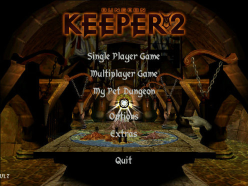 Dungeon Keeper 2 Main menu