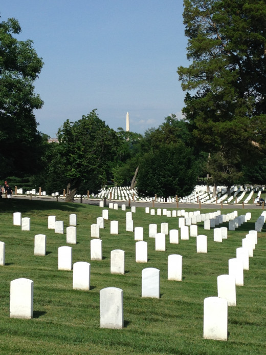 THE RESTING PLACE OF THOSE WHO DIED PROTECTING AMERICA -- ARLINGTON NATIONAL CEMETARY, WASHINGTON D.C.