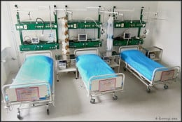 People on artificial life support are usually place in the Intensive Care Unit of the hospital.
