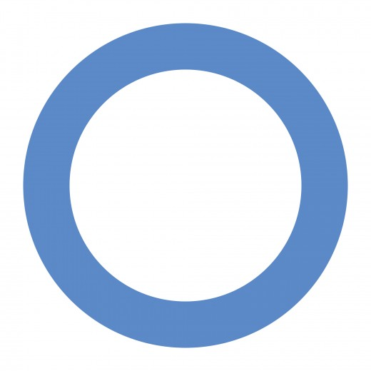 Universal blue circle symbol for diabetes.