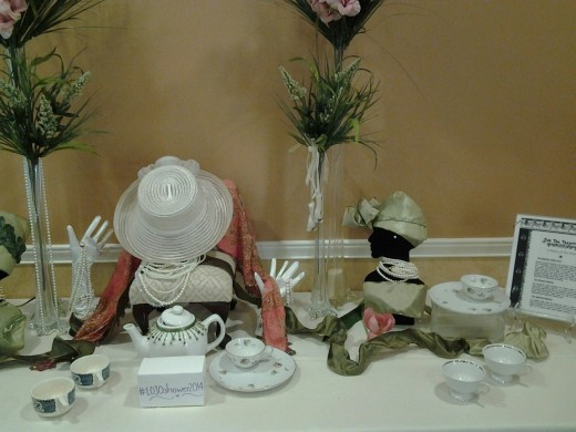 "Bridal Shower Tea Party Décor Display at Auburn Hills Community Center. ""Spot of Tea."" Pamela Anglin Designer & Decorator"