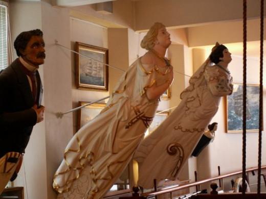 The Maritime museum - imposing figureheads.