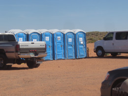 Parking Lot and restroom facilities at Lower Antelope Canyon