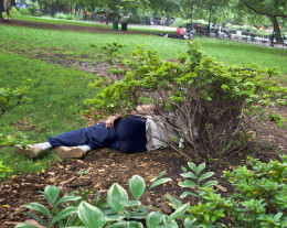 Man falls over