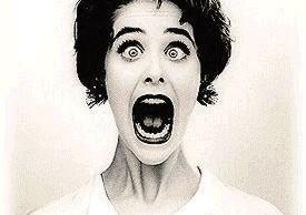 screaming woman yelling woman