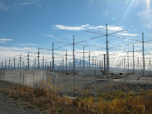 HAARP antennae array.