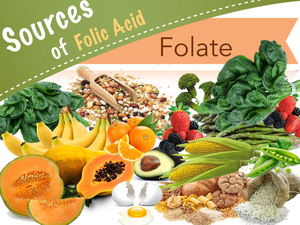 Foods with vitamin folate