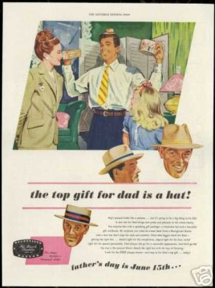 Advertising like the one seen here, was created by the National Council For the Promotion of Father's Day, helped to not only increase sales, but to increase awareness and acceptance of the holiday by the public