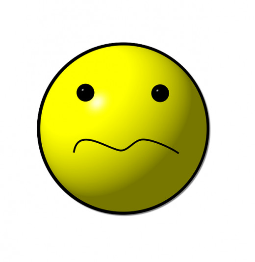 Image of unhappy face.