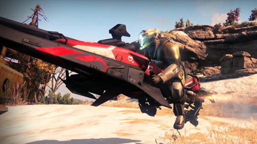 Titan riding his Sparrow