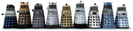 Daleks throughout the years