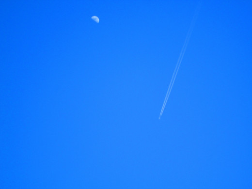 The jet stream is now passing the moon.