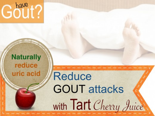 Gout: Tart Cherry Juice reduces gout attacks, reduces joint pain and aids in muscle recovery. It even reduces muscle inflamation.