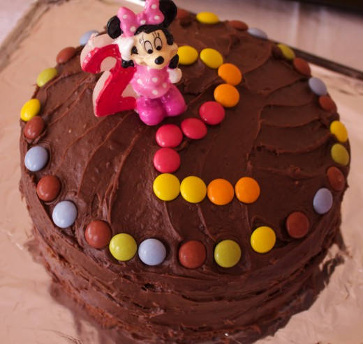 Add Smarties to Make a Great Kids Cake