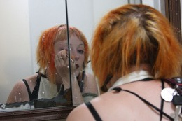 how to fix orange hair after coloring