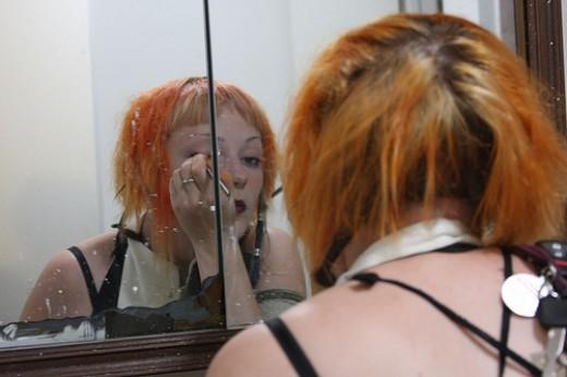 Bleached orange hair
