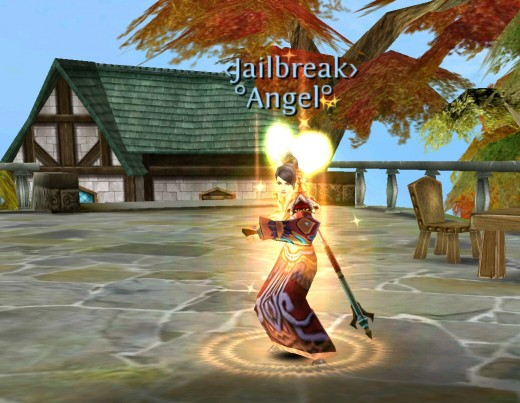 Epic t3 monk in Order and Chaos Online.