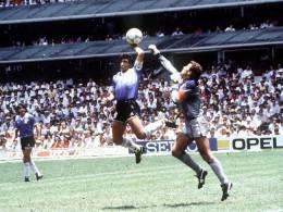 Hand goal of God scoring by deigo Maradona