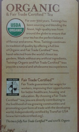 Information provided by Twinings on the Camomile Tea